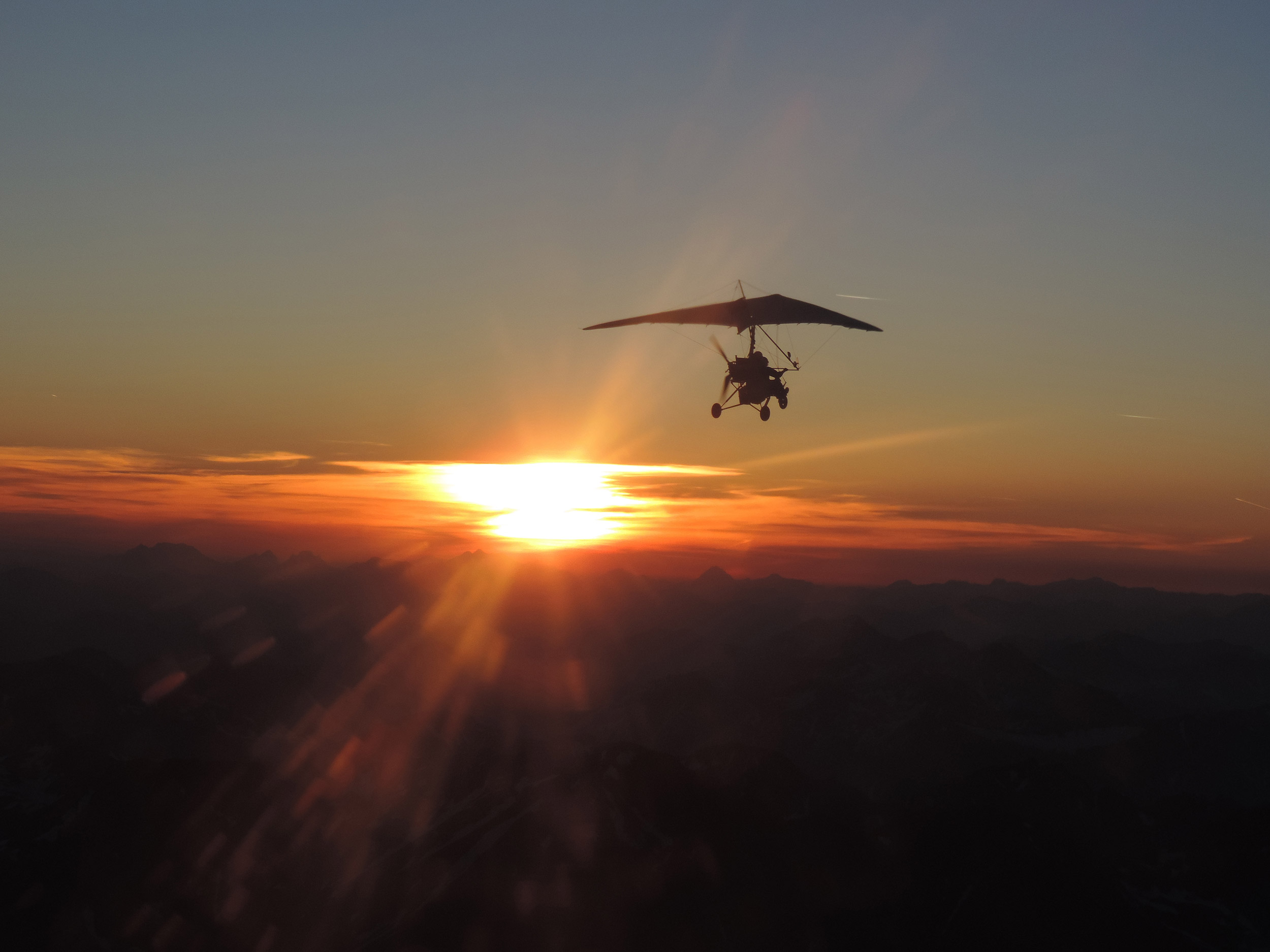 Ultralight Sunriseflug